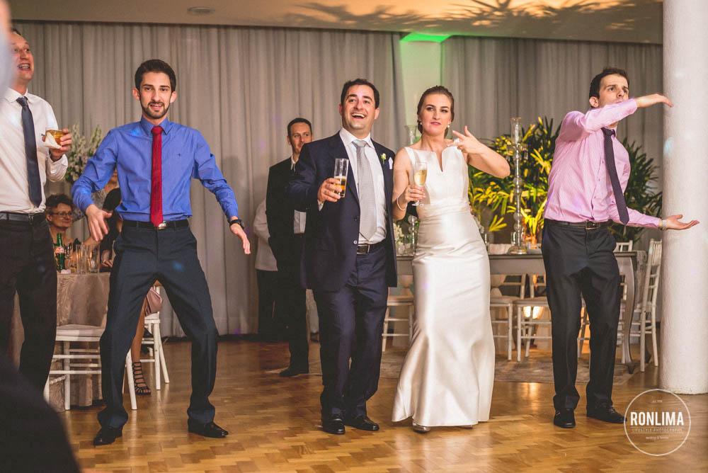 diversão no casamento no clube comercial