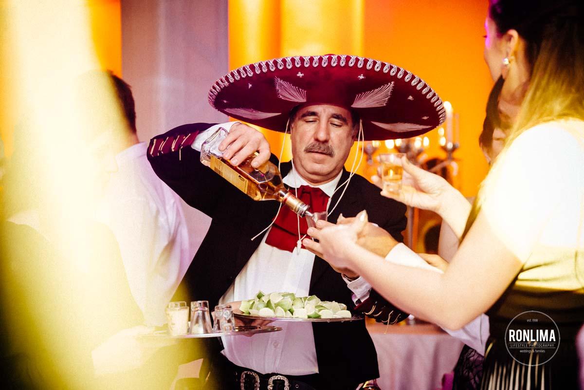 Recepção dos convidados do casamento