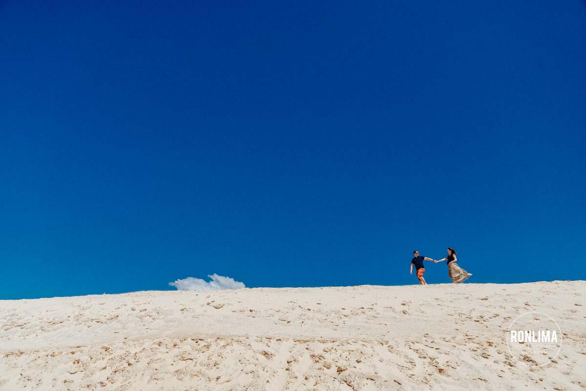 Ensaio Gestante nas duna da Joaquina em Florianópolis