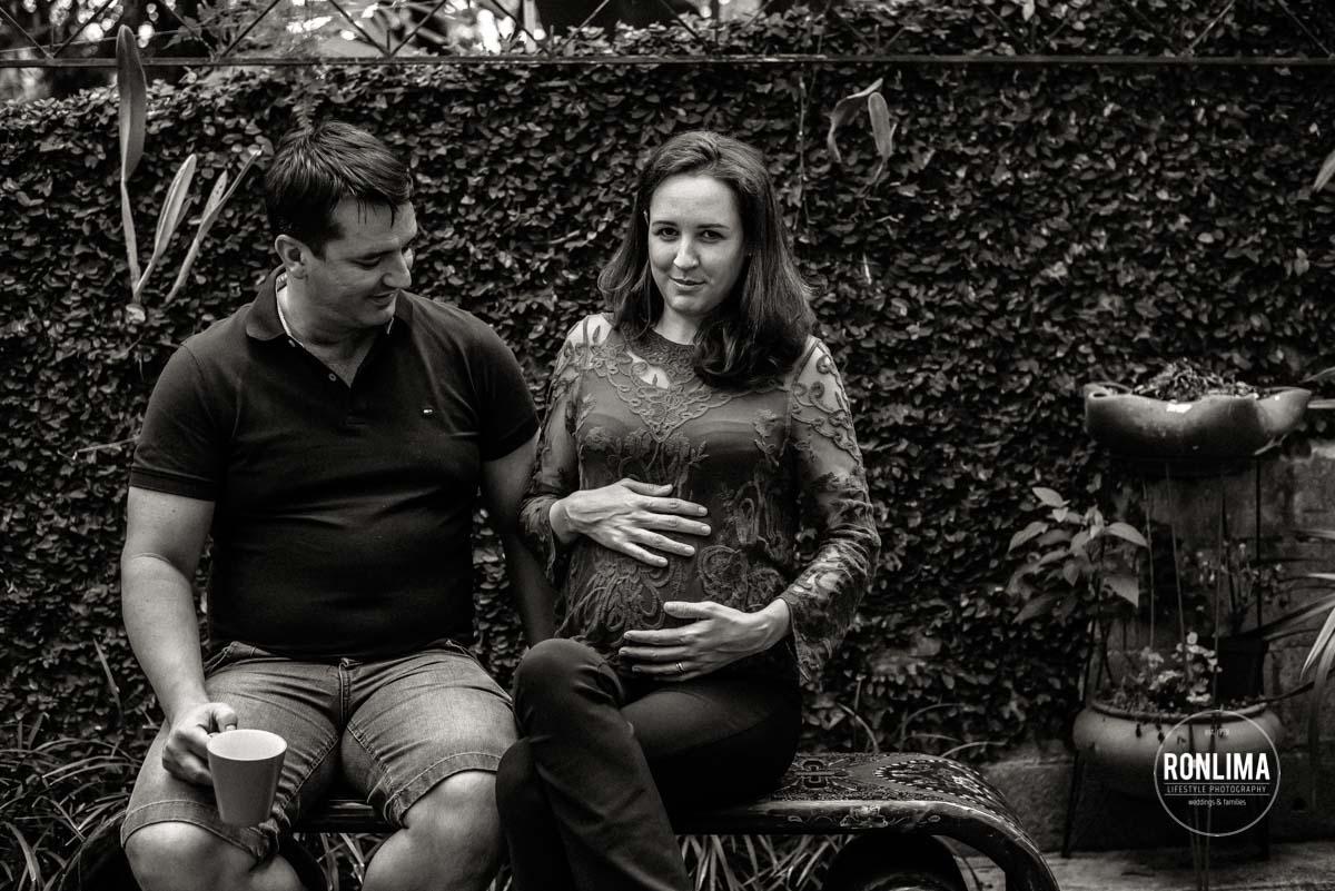 Ensaio Gestante na casa do casal em Florianópolis