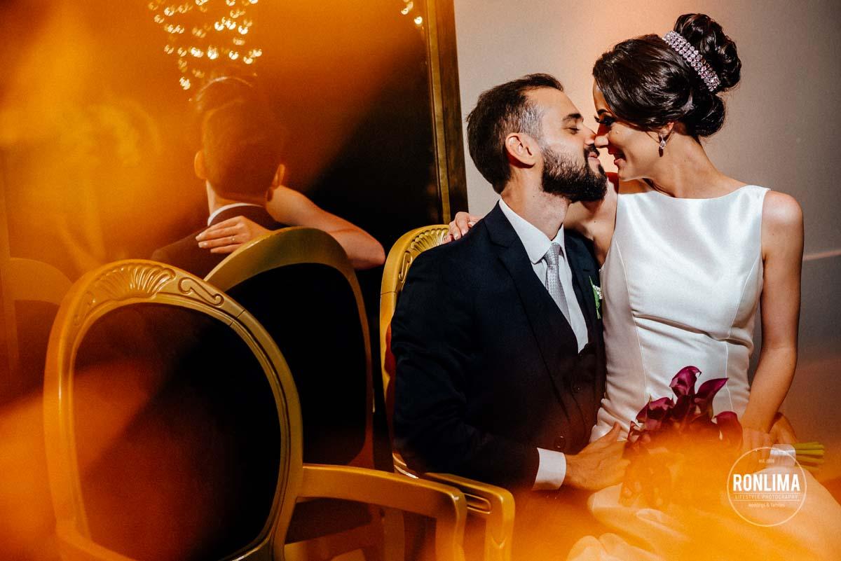 Ensaio dos noivos no casamento