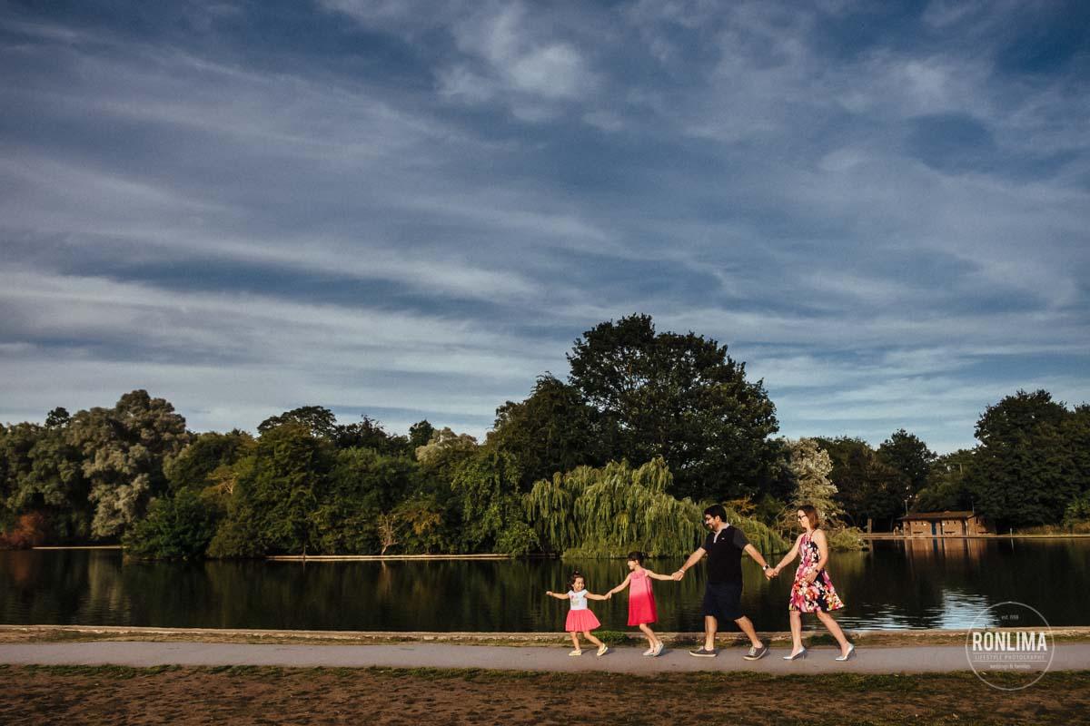 Fotos de família no parque