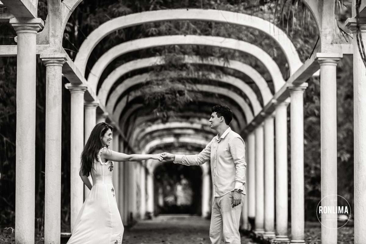 foto pré casamento Jardim Botânico