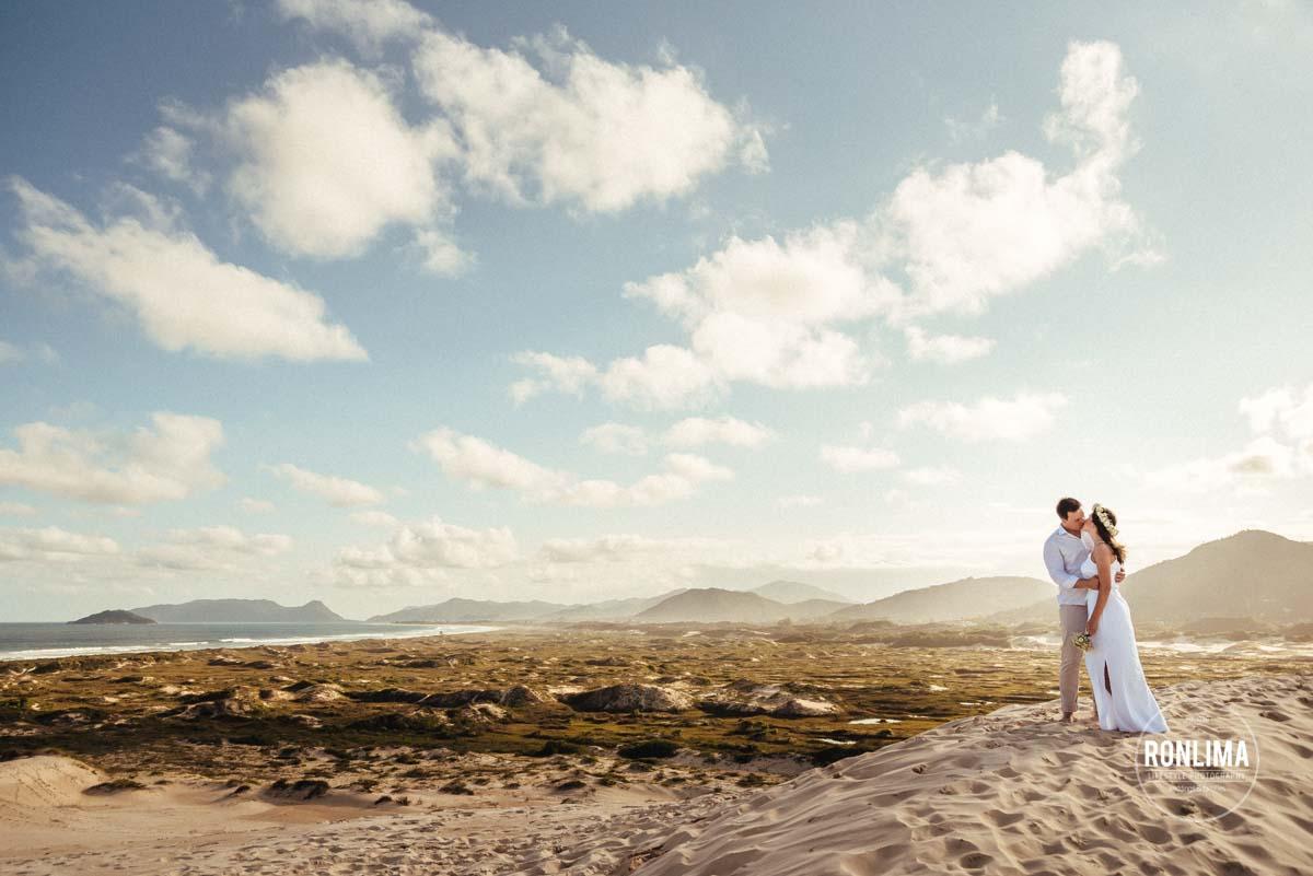 Ensaio Pré Casamento nas dunas da Joaquina
