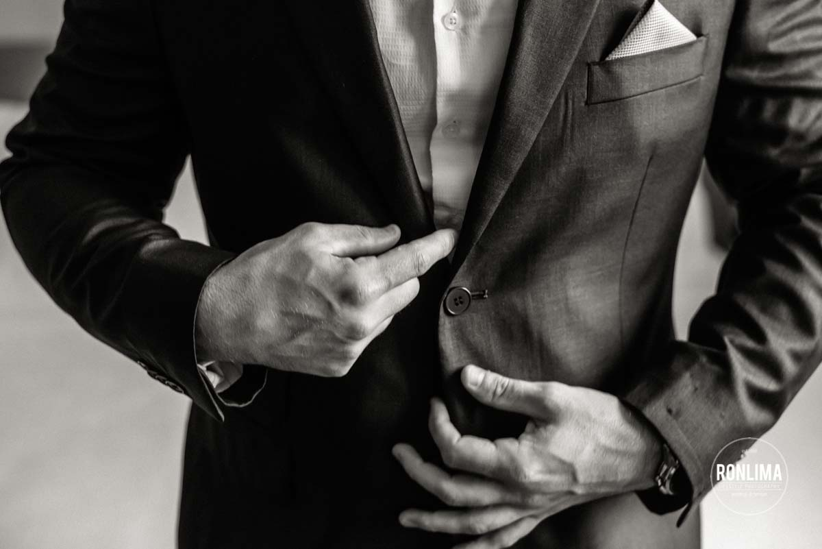 Making of do noivo para o casamento